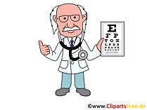Clipartbild Augenarzt