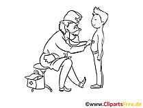 医学、健康について白黒無料クリップアート