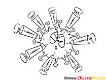 Vaksine mot virus - Corona, Covid-19 utklipp