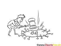 Bekjemp virusutklipp, bilde. illustrasjon