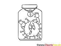 Virusinfluensabilde for maling og utskrift