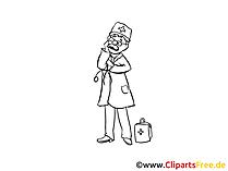 Doktor, Arzt Bild, Cartoon, Zeichnung