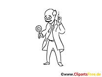 経験豊富な医師のアイデア、クリップアート、イメージ、漫画