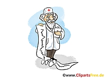 Gesundneit Clipart, Arzt Bild, Cartoon