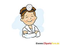 Boyun burun kulakları doktor küçük resim, resim, grafik