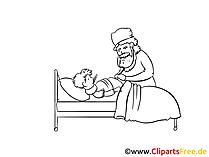 Hastane çizim, küçük resim, resim, grafik