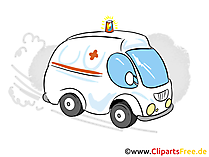 Krankenwagen Clipart, Bild, Cartoon, Grafik