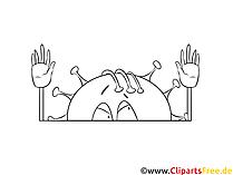 Tegninger til farvelægning side hænder op