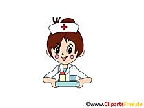 Manga Nurse clipart, grafik, resim bedava