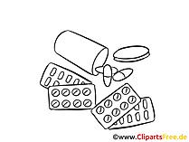 薬の写真、クリップアート、デッサン、グラフィック