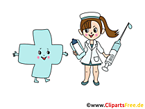 Tıp çizgi film, resim, grafik