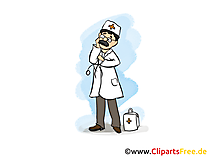 Medizin und Gesundneit Clipart, Bild, Cartoon