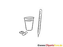 Medizin Zeichnung, Clipart, Bild