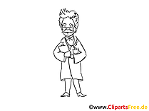 Siyah ve beyaz çizim doktoru