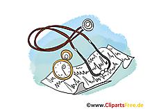 Stethoskop Clipart, Bild, Cartoon
