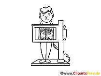 Untersuchung beim Chirurgen Bild, Clipart, Zeichnung
