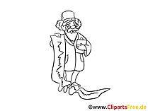 Verschreibung vom Arzt Zeichnung, Grafik,  Clipart, Bild