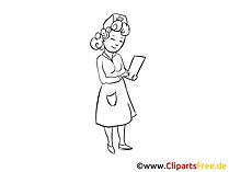 Zeichnung Krankenschwester im Krankenhaus - Medizin Zeichnungen
