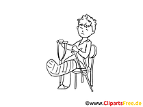 Zeichnung Patient in der Klinik - Gesundheitsbilder