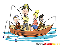 Angeln, Familie Clipart, Illustration, Bild