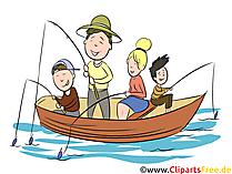 釣り、家族のクリップアート、イラスト、絵