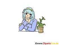 アニメやマンガの女の子画像、クリップアート、コミック、漫画、グラフィック