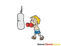 Boxer Bild, Clipart, Illustration, Grafik, Zeichnung kostenlos