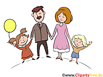 Clipart Familie Bild, Illustration, Grafik