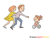 Anne kızı ile oynamak Clipart, Illustration, picture
