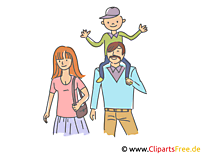 Familie Illustration, Clipart, Bild
