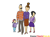 家族、父、母、子供たち - 人々、人々、クリップアート