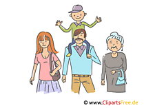 Familienbild Clipart, Illustration, Bild