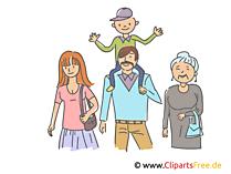 家族写真のクリップアート、イラスト、絵