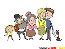 Family Clip Art, Comic, Cartoon, Illustration free