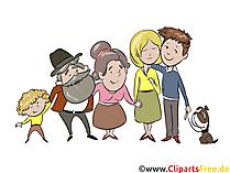 家族のクリップアート、漫画、漫画、イラスト無料