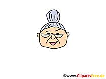 祖母クリップアート、イメージ、漫画、コミック、イラスト無料