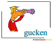 Gucken Clipart Mensch free