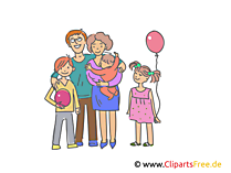Happy Family Clip Art, Illustration, Image free