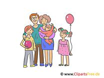 幸せな家族のクリップアート、イラスト、画像無料