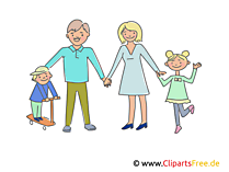 Happy Family Clipart, Illustration, Picture, Image free
