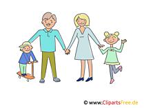 幸せな家族のクリップアート、イラスト、画像、画像無料