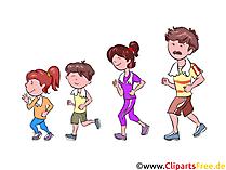 ジョギング、家族、スポーツのクリップアート、イラスト、絵