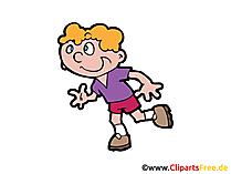 Jogging Bild, Clipart, Illustration, Grafik, Zeichnung kostenlos