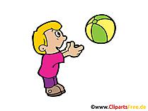 子供がボールで遊ぶクリップアート、画像、イラスト、漫画が無料