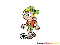 Kinderfussball Bild, Clipart, Illustration, Grafik, Zeichnung kostenlos
