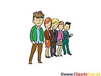 Klasse, Schüler - Menschen, Menschenbilder, Cliparts Menschen