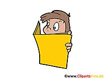 Lesen Bild, Clipart, Illustration, Grafik, Zeichnung kostenlos