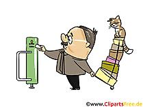 Foto di uomo e gatto, clip art, illustrazione