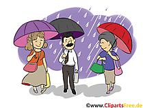 Menschen mit Regenschirmer - Menschen, Menschenbilder, Cliparts Menschen