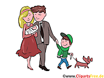 Młoda rodzina darmowe cliparty, ilustracje, zdjęcie